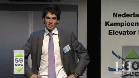 Thumbnail for entry S06 - NK Elevator Pitch 2011- Tiemen Storm