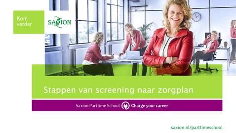 Thumbnail for entry Stappen van screening naar zorgplan