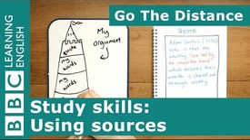 Thumbnail for entry Study Skills – Using sources