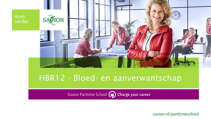 HBR12 bloed- en aanverwantschap