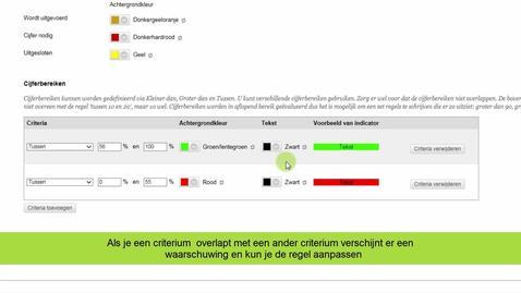 Thumbnail for entry Blackboard - Kleurcodes maken voor cijferbereiken