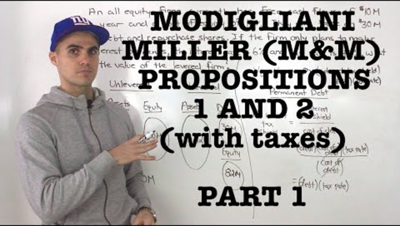 OBE07 - FIN 401 - Modigliani-Miller (M&M) Proposition 1 and 2 (with tax) - Part 1