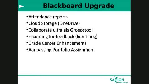 Blackboard - Applicatieoverleg 16-01-2019