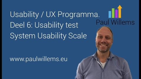 Thumbnail for entry Usability / UX Programma. Deel 6:  Usability test System Usability Scale
