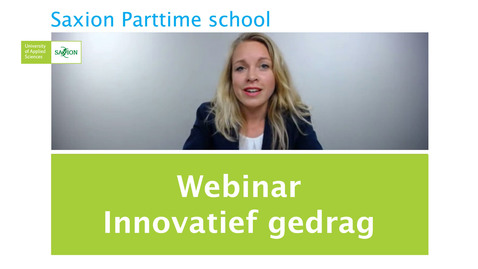 Thumbnail for entry Webinar Innovatief gedrag