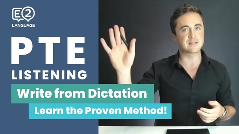 Thumbnail for entry PTE Listening: Write from Dictation | Learn the Proven Method!