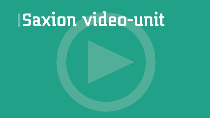 Thumbnail for channel Saxion video-unit