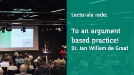 Thumbnail for entry Lectorale rede van Jan Willem de Graaf