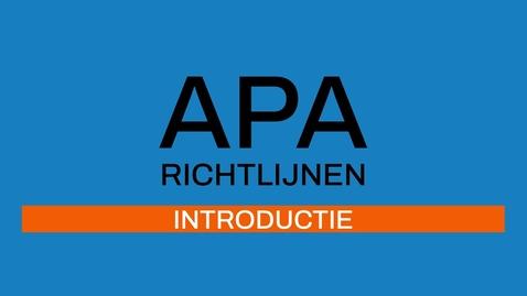 Thumbnail for entry 1/7 APA-richtlijnen 7e ed: Introductie
