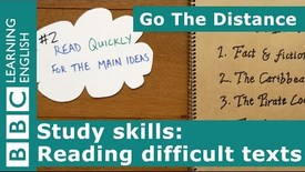 Thumbnail for entry Study Skills – Reading difficult texts