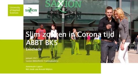 Thumbnail for entry 1/6 Slim zoeken in Corona tijd