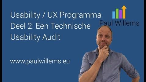 Thumbnail for entry Usability/ UX Programma. Deel 2: Een Technische Usability Audit