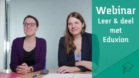 Thumbnail for entry Webinar Eduxion over netwerkleren: het opbouwen van sociaal kapitaal voor een leven lang leren