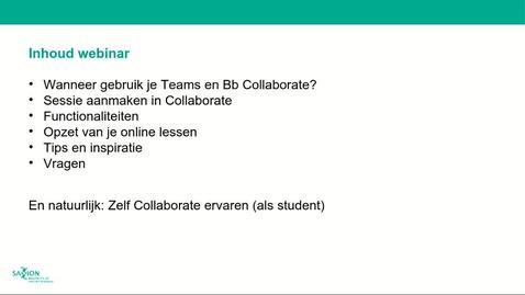 Thumbnail for entry ICT&O Webinar: Online lesgeven - de basis