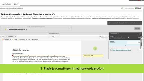 Thumbnail for entry Blackboard - Beoordelen van een opdracht in het ingeleverde bestand
