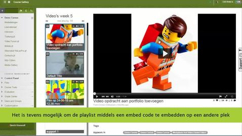 Thumbnail for entry Blackboard - Playlist maken in de Media Gallery