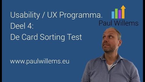 Thumbnail for entry Usability / UX Programma. Deel 4: De Card Sorting Test