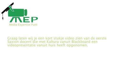 Thumbnail for entry Videopresentatie met Kaltura vanuit Blackboard