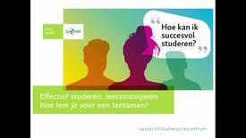 Thumbnail for entry Studievaardigheden - leerstrategieën