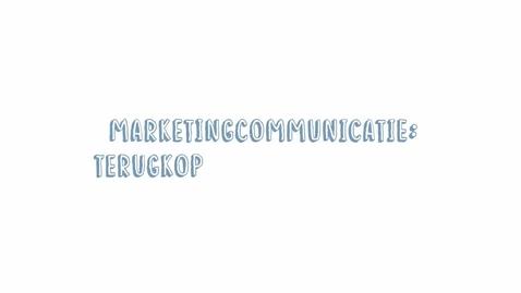 Thumbnail for entry Marketingcommunicatie 14: Evaluatie