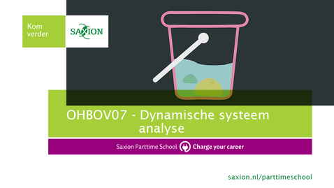 Thumbnail for entry OHBOV07 - Dynamische systeem analyse