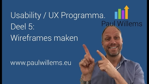 Thumbnail for entry Usability / UX Programma. Deel 5: Wireframes maken voor Usability/ UX Testing