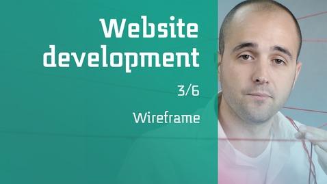 Thumbnail for entry 3/6 Website development : Wireframe