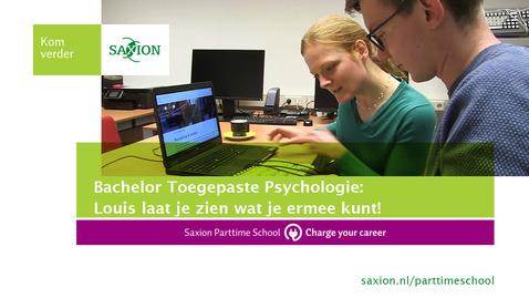 Thumbnail for entry Bachelor Toegepaste Psychologie: Louis laat je zien wat je ermee kunt!