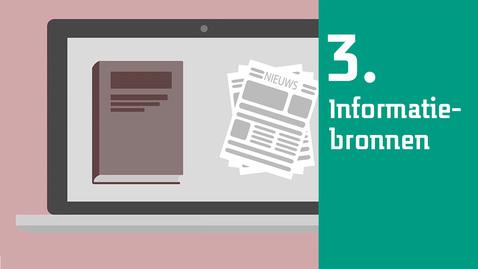 Thumbnail for entry 3/6  Zoekplan informatievaardigheden : informatiebronnen