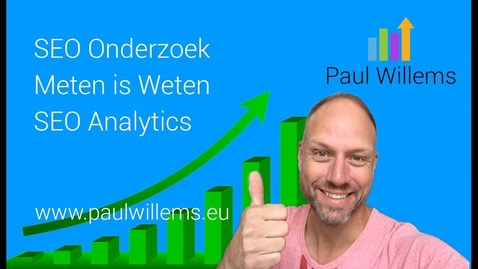 Thumbnail for entry Zoekmachine Optimalisatie (SEO) Deel 8: SEO Analytics