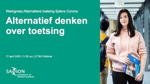 Thumbnail for entry ICT&O Webinar: Alternatief denken over toetsing