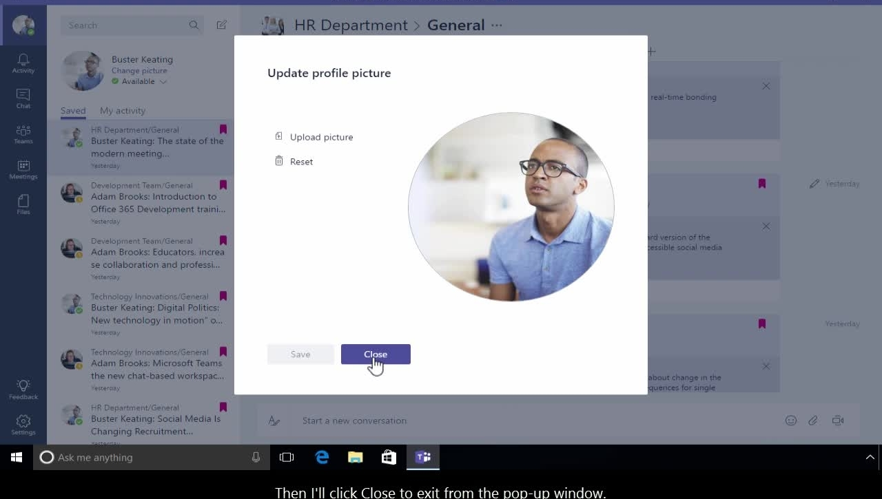 Office 365 - Teams - How to personalize your space