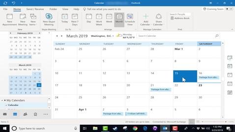 Thumbnail for entry Using the Microsoft Outlook Calendar