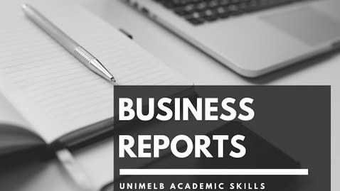 Thumbnail for entry C51 - Business report: structure
