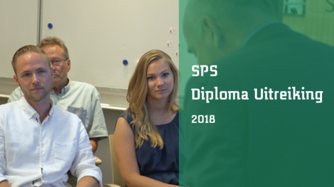 Thumbnail for entry Diploma uitreiking eerste geslaagden Saxion Parttime School