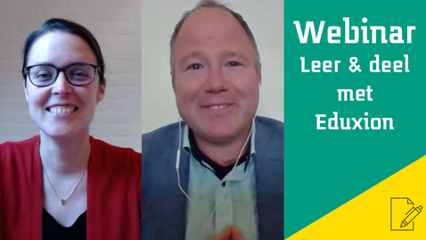 Thumbnail for entry Webinar Leer & deel met Eduxion - Learning analytics door Marcel Schmitz