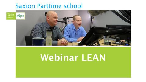 Thumbnail for entry Webinar LEAN