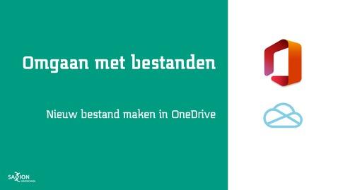 Thumbnail for entry Nieuw bestand maken in OneDrive