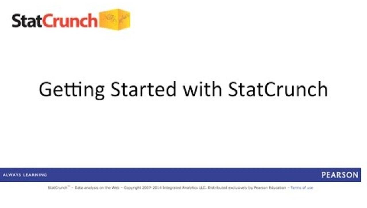 C54 - StatCrunch: Getting Started - Full Length