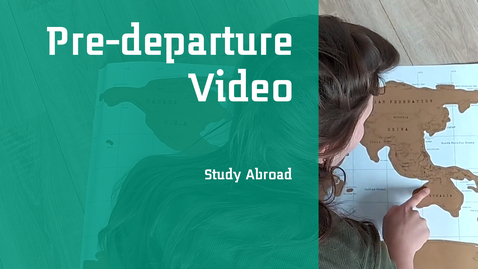 Thumbnail for entry Pre-departure Video