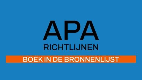 Thumbnail for entry 4/7 APA-richtlijnen 7e ed: Boek