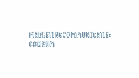 Thumbnail for entry Marketingcommunicatie 08: Consumer Insights