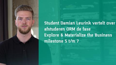 Thumbnail for entry Milestones - Studenten aan het woord - Damian