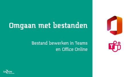 Thumbnail for entry Bestand bewerken in Teams en Office Online