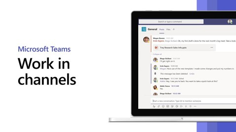 Thumbnail for entry How to work in channels in Microsoft Teams