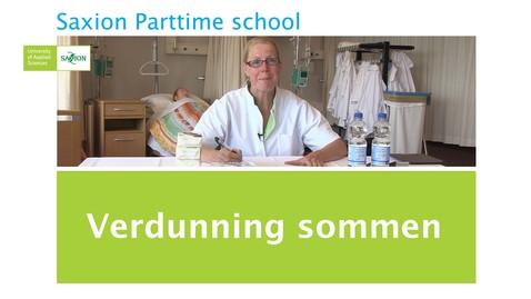 Thumbnail for entry Verdunningssommen
