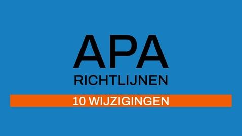 Thumbnail for entry 2/7 APA-richtlijnen: verschillen 6e en 7e editie