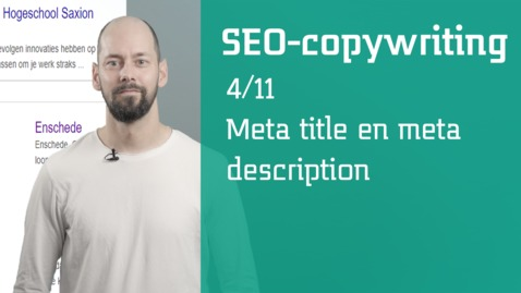 Thumbnail for entry 4/11 SEO-copywriting : meta title en meta description