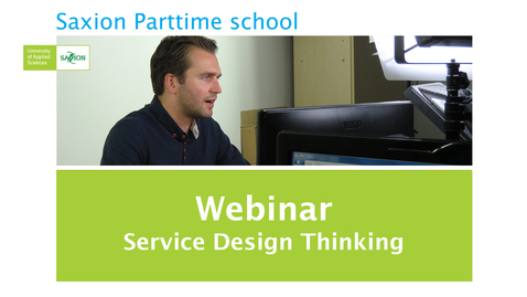 Thumbnail for entry Webinar Service Design Thinking