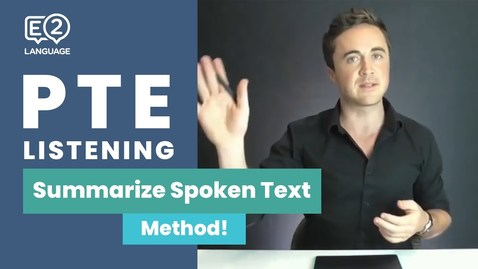 Thumbnail for entry PTE Listening: Summarize Spoken Text | METHOD with Jay!